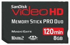 Paměťová karta MS PRO DUO Sandisk Video HD Ultra II 8GB